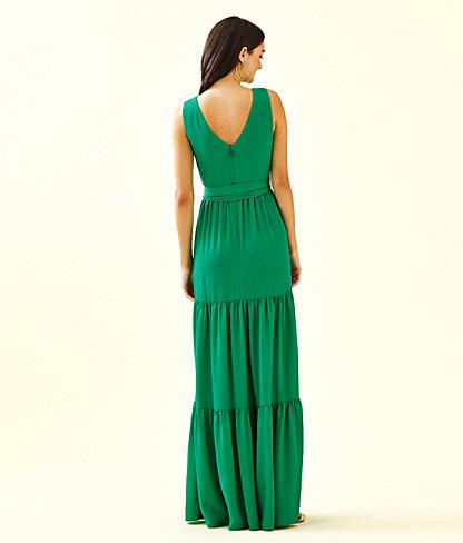Maurine Maxi Dress, Emerald Isle, large 1