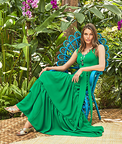 Maurine Maxi Dress, Emerald Isle, large 3