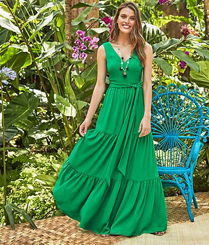 Maurine Maxi Dress, Emerald Isle, large 4