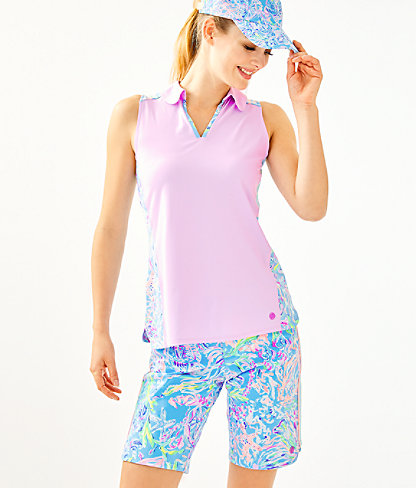 Upf 50+ Luxletic Reesa Golf Polo Top by Lilly Pulitzer