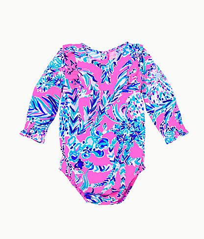 Infant Velma Bodysuit, Mandevilla Pink New Kids On The Dock, large 0