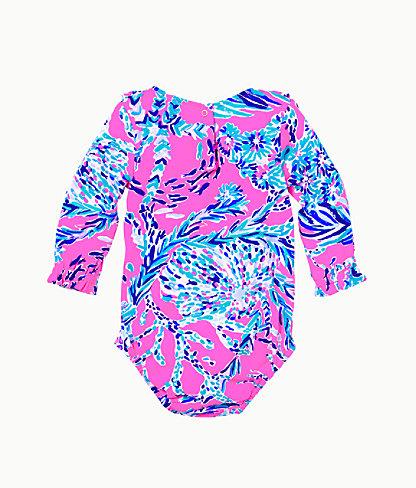 Infant Velma Bodysuit, Mandevilla Pink New Kids On The Dock, large 1