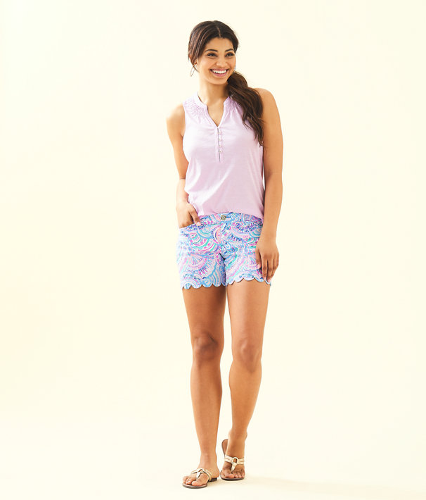 "5"" Buttercup Stretch Short, Multi Happy As A Clam, large"