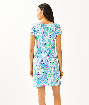 Marlowe Boatneck T-Shirt Dress, Amethyst Tint Craysea, large