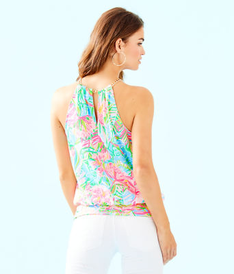 Bowen Top, Multi Pop Up Lilly Of The Jungle Reduced Engin, large