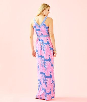 Taryn Maxi Dress, Blue Haven Little Flamenco Engineered Maxi Dress, large