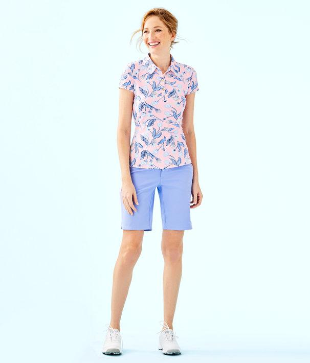 c4eb8d6c713129 UPF 50+ Luxletic Frida Polo Top, Pink Tropics Tint Par Tee Time, large ...