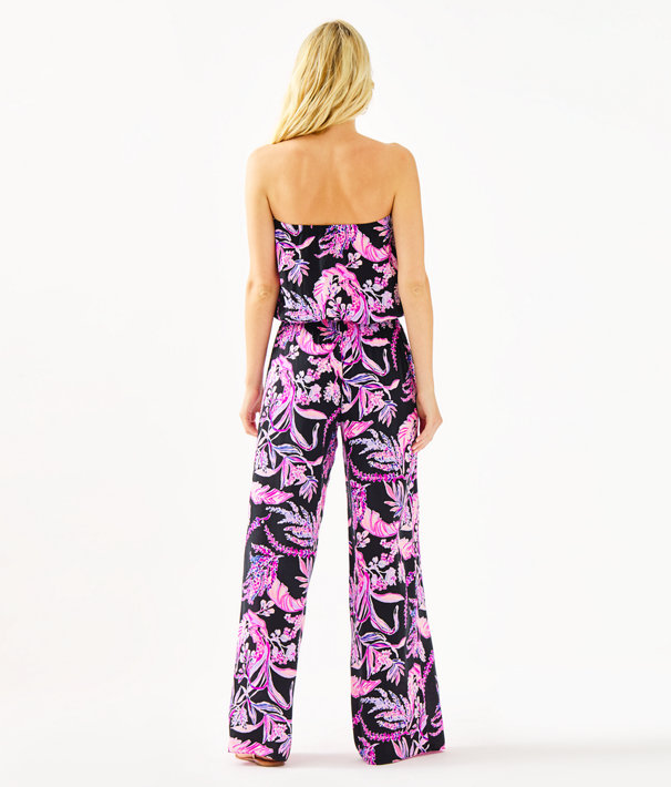 Pim Strapless Jumpsuit, Onyx Wild Within, large