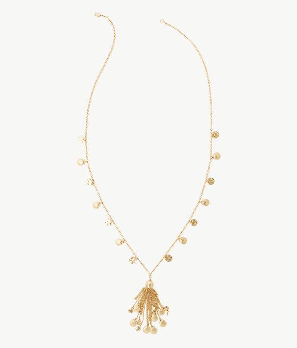 Maraca Necklace, Gold Metallic, large