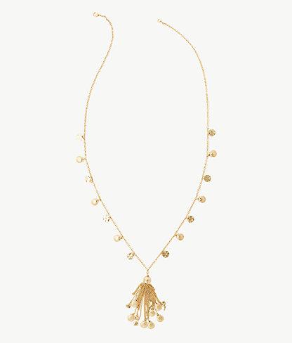 Maraca Necklace, Gold Metallic, large 0