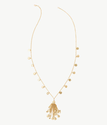 Maraca Necklace, Gold Metallic, large