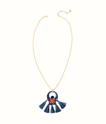 Maritime Necklace, High Tide Navy, large 0
