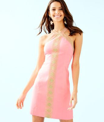 Vena Stretch Shift Dress, Capri Coral, large