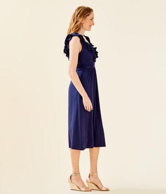 Leena Midi Dress, True Navy, large 2