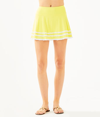 UPF 50+ Luxletic Fionna Skort, Watch Hill Yellow, large