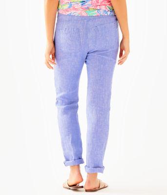 "31"" Aden Linen Pant, Beckon Blue, large 1"