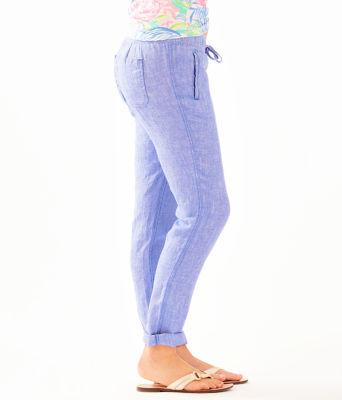 "31"" Aden Linen Pant, Beckon Blue, large"