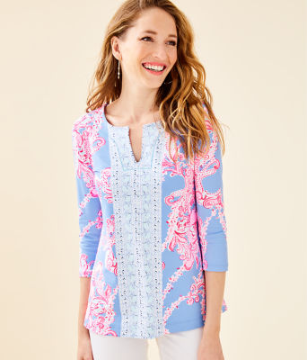 UPF 50+ ChillyLilly Karina Tunic, Blue Peri Go With The Flow Engineered Chilly Lilly, large 0