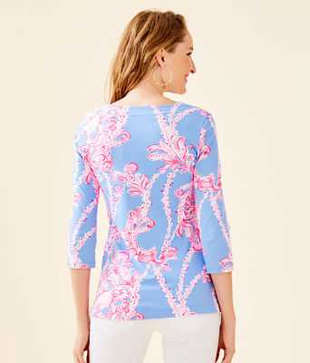 UPF 50+ ChillyLilly Karina Tunic, Blue Peri Go With The Flow Engineered Chilly Lilly, large 1