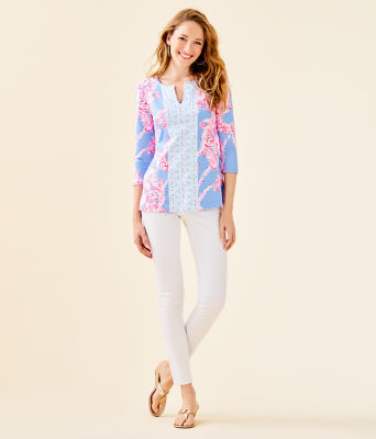 UPF 50+ ChillyLilly Karina Tunic, Blue Peri Go With The Flow Engineered Chilly Lilly, large