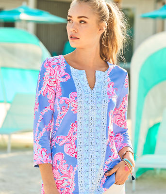 UPF 50+ ChillyLilly Karina Tunic, Blue Peri Go With The Flow Engineered Chilly Lilly, large 3