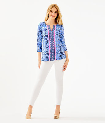 UPF 50+ ChillyLilly Karina Tunic, High Tide Navy Youre The Zest Engineered Chilly Lilly, large
