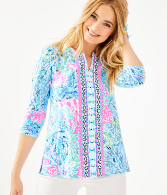 UPF 50+ ChillyLilly Karina Tunic, Multi Sink Or Swim Engineered Chilly Lilly, large