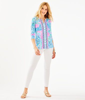 UPF 50+ ChillyLilly Karina Tunic, Multi Sink Or Swim Engineered Chilly Lilly, large 2