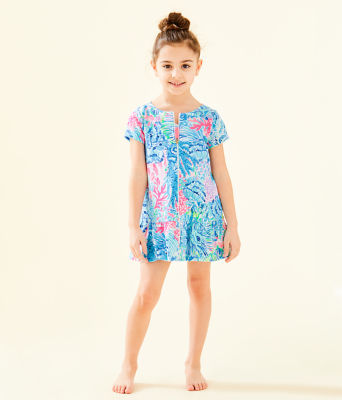 UPF 50+ Girls Ivy Cover-Up, Multi Sink Or Swim, large
