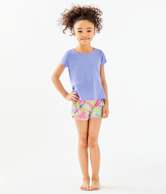 Girls Sondra Peplum Top, Blue Peri, large 0