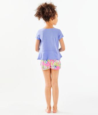 Girls Sondra Peplum Top, Blue Peri, large