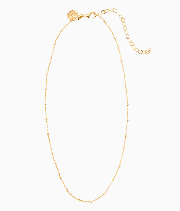 Charm Bar Short Ball Chain, Gold Metallic, large