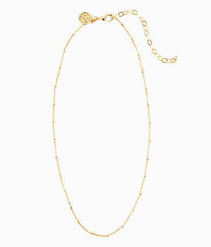 Charm Bar Short Ball Chain, Gold Metallic, large 0