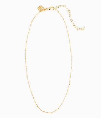 Charm Bar Short Ball Chain, Gold Metallic, large