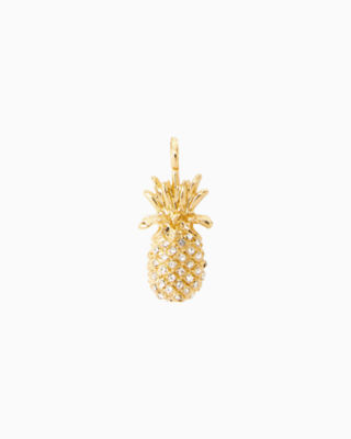 Large Custom Charm - Pineapple, Gold Metallic Large Pineapple Charm, large