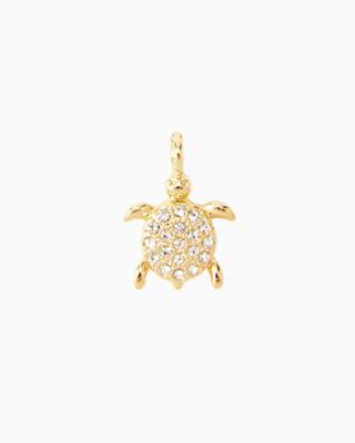 Large Custom Charm, Gold Metallic Large Turtle Charm, large 0