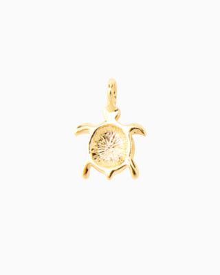 Large Custom Charm, Gold Metallic Large Turtle Charm, large 1