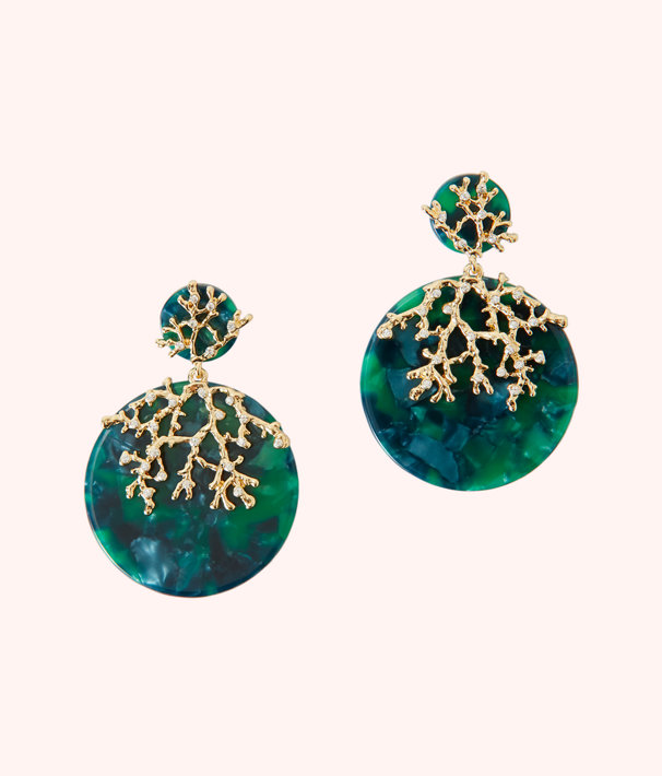 Coral Cove Earrings, Emerald Isle, large