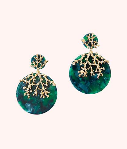 Coral Cove Earrings, Emerald Isle, large 0
