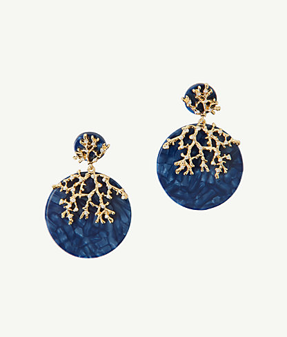Coral Cove Earrings, Iris Blue, large 0