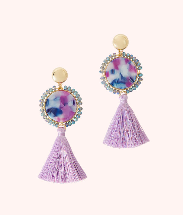 Bay Dreaming Earrings, Lilac Freesia, large