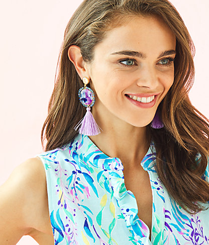 Bay Dreaming Earrings, Lilac Freesia, large 1