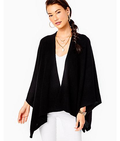 Terri Cashmere Wrap, Black, large 0