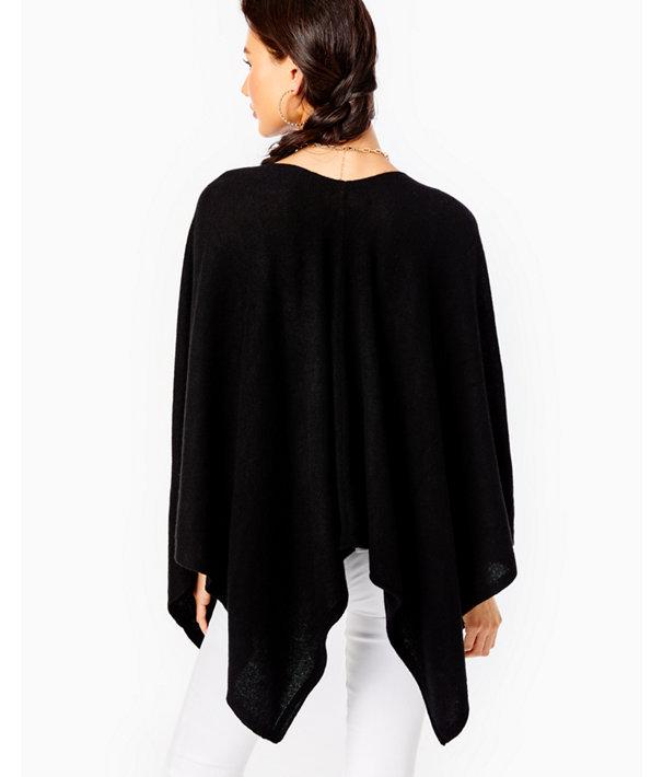 Terri Cashmere Wrap, Black, large