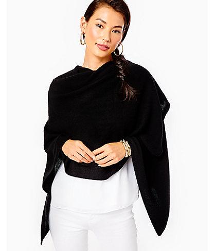 Terri Cashmere Wrap, Black, large 2
