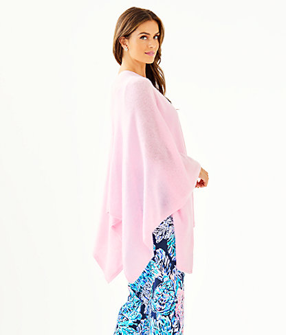 Terri Cashmere Wrap, Heathered Pink Blossom, large 1
