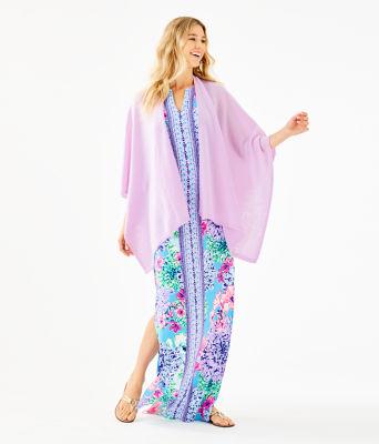 Terri Cashmere Wrap, Lilac Freesia, large 2