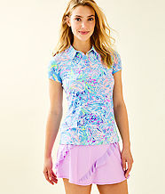 UPF 50+ Luxletic Frida Polo Top, Multi All Together Now, large