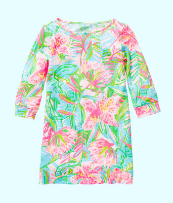 Girls Mini Marlowe Dress, Multi Pop Up Lilly Of The Jungle, large