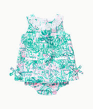 Baby Lilly Infant Shift Dress, Bright Agate Green Colorful Camelflage, large